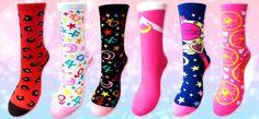 Official Japanese Sailor Moon Socks! Buy here http://www.moonkitty.net/buy-sailor-moon-socks.php