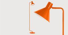 Truman Task Floor Light, Matt Burnt Orange | made.com