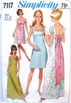 60s Evening Dress Simplicity 7117