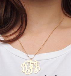 ♥: mijn monogram ketting