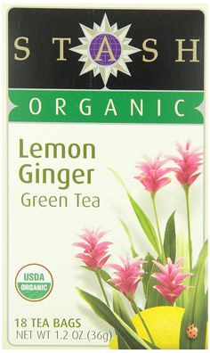 Stash Tea Organic Lemon Ginger Green Tea, 18 Count Tea Bags in Foil (Pack of 6) *** Awesome product. Click the image at  : Amazon fresh