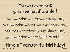 Sense of Wonder Birthday Greeting  DRS Designs