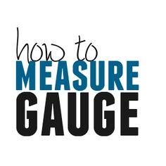 Measure gauge the simple way.
