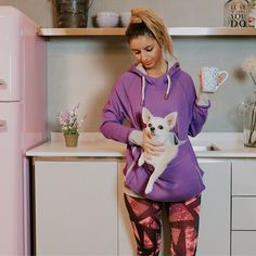 Roodie Pet Carrier Hoodies - Small Animal Holder With a Carry Pouch Stylish Hoodies, Pet Carriers, Morning Coffee, Small Dogs, Carry On, Your Pet, Documentaries, Cute Animals, Pouch