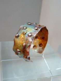 Bubbles Hammered Distressed Copper Cuff by pmdesigns09 on Etsy, $89.00