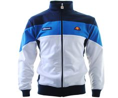 Ellesse Caprione Track Top White/Dress Blues - Terraces Menswear