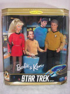 Vintage Star Trek Barbie and Ken New in the Box. $35.00, via Etsy.