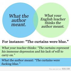 Exactly why me and my English professor didn't get along