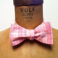 15% off with code MEMORIAL10 Men's Bow Tie  Geek Chic Number 44  pink on pink by theHouseofLux, $37.00