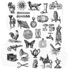 Tim Holtz Cling Mount Stamps - Tiny Things 2 CMS305