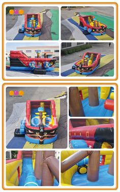 AQ1523 (6*3*3mH/19.69'*13.12'*13.12') Inflatable pirate boat Inflatable pirate boat is a popular inflatable game which is suitable for outdoor sports ground, amusement park, beach and other places. It will also attract visitors' attention.