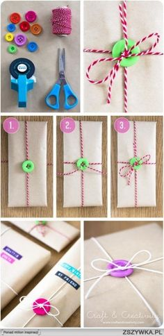 Knopen gebruiken met inpakken.. Mooi!!