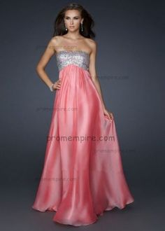 Long 2013 Best Cheap Pink Sparkly Homecoming Dresses