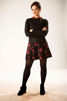 Jenna Coleman in Doctor Who Doctor Who Clara, Doctor Who 2005, Eleventh Doctor, Star Citizen, Jenna Coleman Style, Serie Doctor, Tights Outfit, Bikini Pictures, In Pantyhose