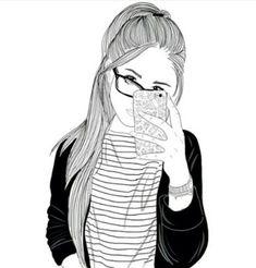 fille, cheveux, Tumblr