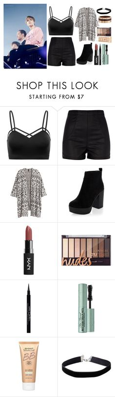 """""""performing with vernon ♡"""" by wonnhoe ❤ liked on Polyvore featuring River Island, H&M, New Look, Givenchy, Too Faced Cosmetics, Miracle Skin Transformer, Miss Selfridge and Cartier"""