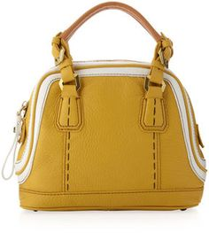 Oryany Trixie Colorblock Mini Satchel Bag, Lemon/Multicolor on shopstyle.com
