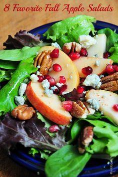 Apple Pear Salad with Pomegranate Vinaigrette – (Free Recipe below) Apfel-Birnen-Salat mit Granatapfel-Vinaigrette – (Freies Rezept unten) Pear Salad, Apple Salad, Vinaigrette Recipe, Pomegranate Seeds, Salad Bar, Soup And Salad, Mix Salad, Clean Eating, Sauces
