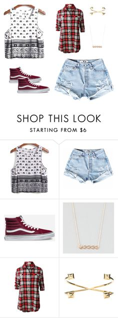 """""""she is great"""" by havenmikaylaerb ❤ liked on Polyvore featuring Vans, Full Tilt, LE3NO and Jeweliq"""