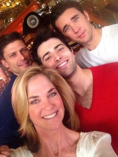 Greg Vaughan, Kassie DePaiva, Freddie Smith, and Billy Flynn
