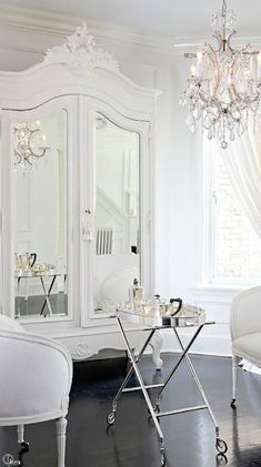 Elegant dressing room.