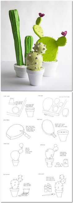How to make a DIY Papier Mache Cactus that never needs water