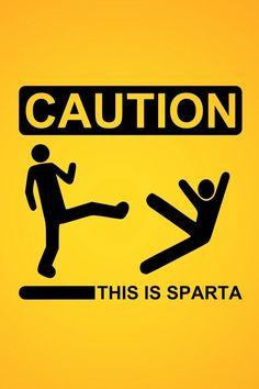 Haha this is Sparta! Kick!