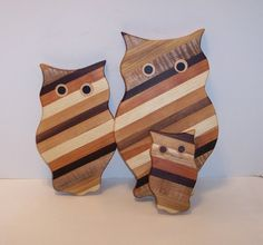 3 Owl Wood Cutting Board Set by tomroche on Etsy, $32.00
