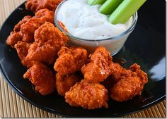 honey barbeque chicken wings with ranch dressing