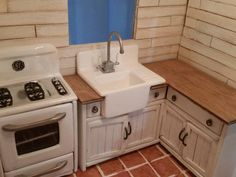 Image result for doll house stove, sink combo