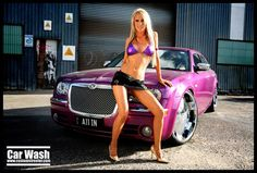Chrysler - Bikini Girl car wash brazillian blonde aussie sunset beautiful pimped out purple all Mopar, Sexy Bikini, Bikini Girls, Chrysler 300c, Car Girls, Car Wash, Bikini Models, Blond, Lady