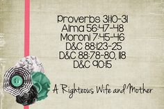 LDS Handouts: Marriage and Family: How can I prepare now to become a righteous wife and mother?