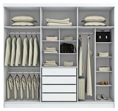 34 Ideas bedroom wardrobe layout ideas for 2019 Wardrobe Design Bedroom, Master Bedroom Closet, Bedroom Wardrobe, Wardrobe Closet, Built In Wardrobe, Ideas Armario, Closet Layout, Bedroom Cupboards, Closet Remodel