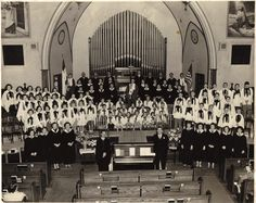 #ThrowbackThursday is looking at the United Methodist Choir circa 1950. Anyone have more info on this photo?
