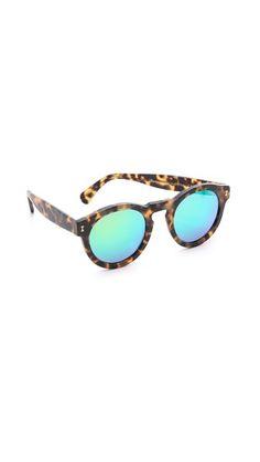Illesteva Leonard Matte Mirrored Sunglasses #Shopbop