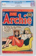 Archie Comics (Archie, CGC VF- Off-white pages. A particularly hot book, the last VF- - Available at 2018 February 22 - 24 Comics &. Archie Comics Characters, Archie Comic Books, Comic Books Art, Comic Art, Jughead Comics, Class Comics, Archie Comics Riverdale, Dan Decarlo, Headlight Covers