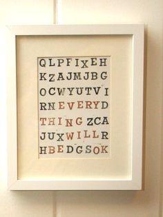 diy typographic print