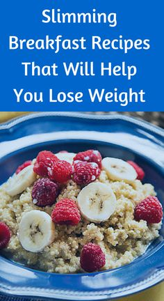"""6 Slimming Breakfast Recipes That Will Help You Lose Weight: Quinoa """"Oatmeal"""""""