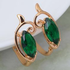 Find More Stud Earrings Information about Stunning Fashion 2015 New Jewelry Brand designer Deep green zircon 18k gold plated earrings  fashion Olivine jewelry E211,High Quality jewelry fan,China jewelry cobalt Suppliers, Cheap jewelry space from Dana Jewelry Co., Ltd. on Aliexpress.com