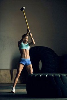 Garage gym, fitness, and Crossfit image gallery. These are motivational and fun images that I find and I take no credit for them. So share and pin away! Crossfit Images, Gym Images, Crossfit Motivation, Tire Workout, Tire Flipping Workout, Workout Tips, Fitness Inspiration, Outdoor Gym, Outdoor Fitness