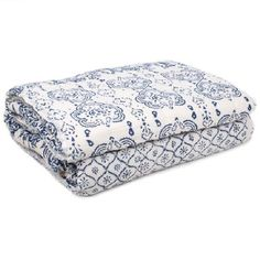 White Queen Quilt With Blue Patchwork Prints - Bedding - Product - Trade Aid Queen Size Quilt, White Queen, Home And Living, Quilts, Fair Trade, Bedding, Bedroom, Board, Blue