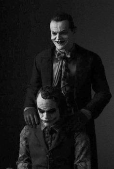 Heath Ledger and Jack Nicholson.