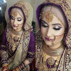 "1,466 Likes, 20 Comments - ✨Tamanna✨ (@beautybytamanna) on Instagram: ""Makeup, hair,.settings by me.  Henna @promyshennacavern #hijabibride #bengalibride #glitter…"""