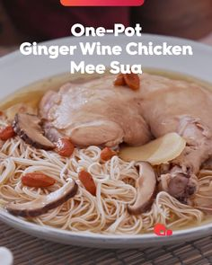 This comforting dish is a wonderful way to start the first day of the New Year. Its warming qualities will fill your whole being, while the aroma of chicken, ginger and Chinese wine will fill your kitchen. Misua Recipe, One Pot Meals, Easy Meals, Easy Cooking, Cooking Recipes, Chinese Noodle Recipes, Asian Recipes, Healthy Recipes, Healthy Food