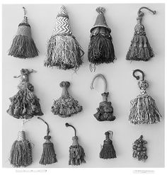 Tassels, tassels, tassels! 16th-17th century, France. Tassels are making a big comeback, after only five or six hundred years.  Strange how that happens.