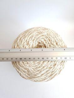 Macrame cord about 260 m cotton cord 3 strand 5 / 32 in macrame rope. Cotton Cord, Cotton String, Macrame Supplies, Macrame Projects, Crochet Girls Dress Pattern, 3 Strand Twist, Macrame Cord, Baskets On Wall, Plant Hanger