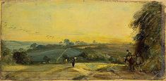 autumnal sunset constable - Google Search