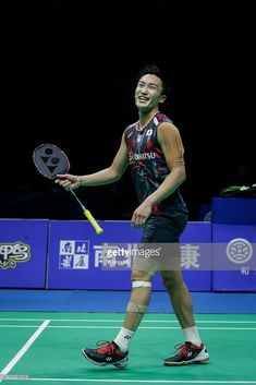 Kento Momota of Japan Celebrate wins the game after singles semi final match against Lee Chong Wei of Malaysia at the 2018 Badminton Asia Championships on Apirl 2018 in Wuhan, central China's Hubei province. Badminton Match, Semi Final, Wuhan, Asian Men, My Passion, Athletics, My Boys, Legends, Basketball Court
