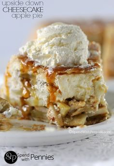 Upside Down Cheesecake Apple Pie.