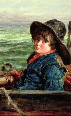 """""""Young Fisher Boy"""" -- William McTaggart (1835 – 1910, Scottish)"""
